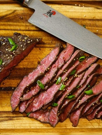 Asian Marinated sous vide Flank Steak
